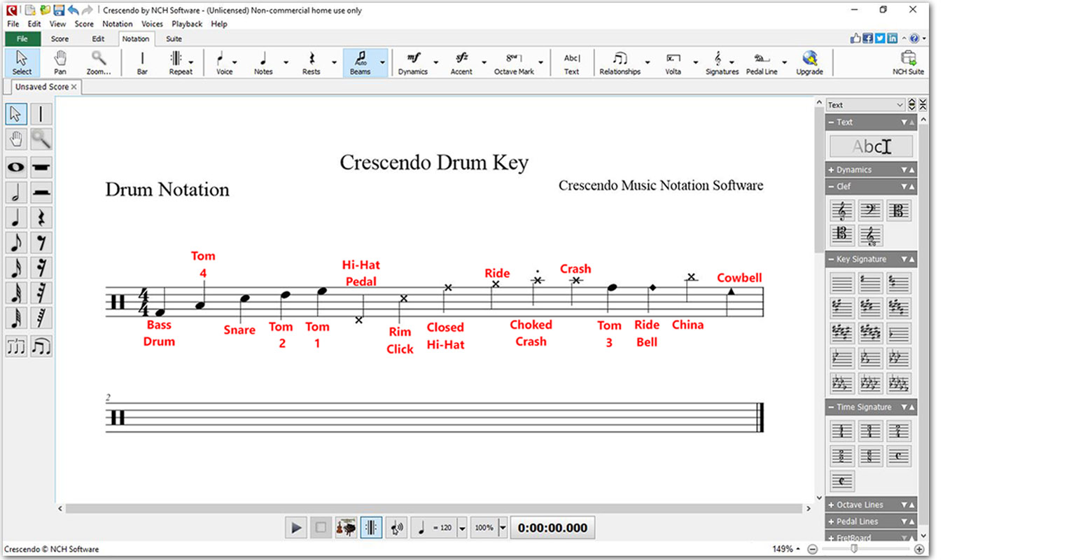 crescendo music notation software review